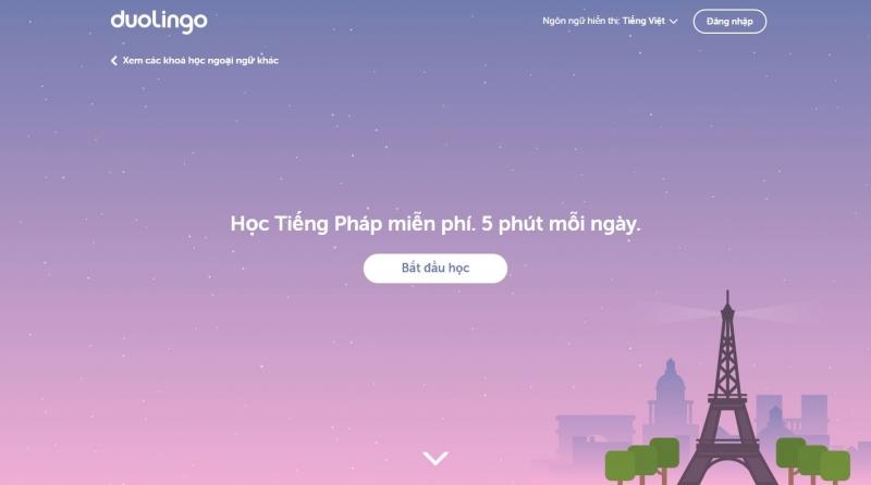 Doulingo có thể nói là website học ngoại ngữ thông minh và được sử dụng nhiều nhất