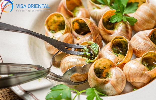 Escargot - tinh hoa của ẩm thực Pháp.